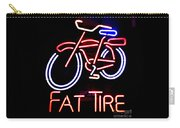Fat Tire Neon Sign Carry-all Pouch