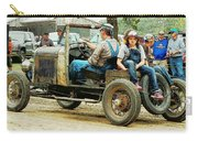 Father And Daughter In The Tractor Parade Carry-all Pouch