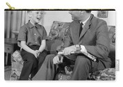 Father And Son Talking And Smiling Carry-all Pouch