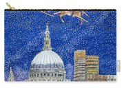 Father Christmas Flying Over London Carry-all Pouch