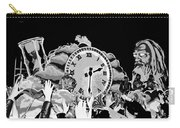 Father Time In Black And White Carry-all Pouch