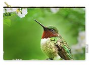 Fauna And Flora - Hummingbird With Flowers Carry-all Pouch