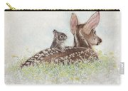 Fawn And Bunny Carry-all Pouch