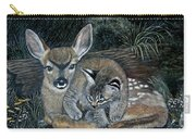 Fawn And Cat Carry-all Pouch