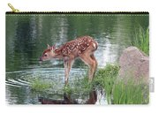 Fawn At The Water Hole Carry-all Pouch