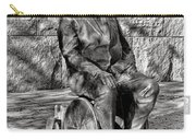 Fdr Memorial Sculpture In Wheelchair Carry-all Pouch