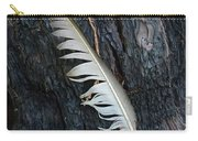 Feather In Burnt Tree Carry-all Pouch