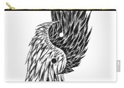 Feathered Ying Yang  Carry-all Pouch
