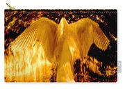 Feathers Of Light - Gold Carry-all Pouch