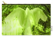 Feathers Of Light - Green Carry-all Pouch
