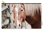 February Horse Portrait Carry-all Pouch