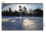 February Pine Tree Shadows Carry-all Pouch