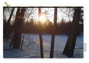 February Sunrise Alongside A Tree Carry-all Pouch