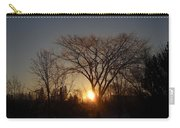 February Sunrise Behind Elm Tree Carry-all Pouch