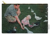 Feeding Ducks With Daddy Carry-all Pouch