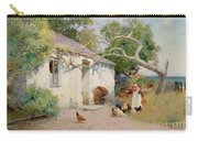 Feeding The Hens Carry-all Pouch by Arthur Claude Strachan
