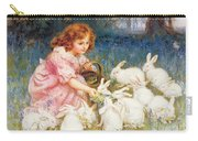 Feeding The Rabbits Carry-all Pouch by Frederick Morgan
