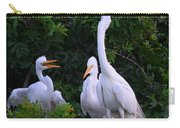 Feeding Time In The Great White Egret Rookery Carry-all Pouch
