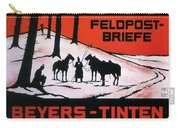 Feldpost-briefe - Beyers-tinten - Two Man With Horses - Retro Travel Poster - Vintage Poster Carry-all Pouch