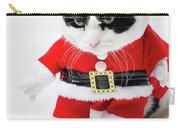 Feline Santa Claus Carry-all Pouch by Benny Marty
