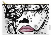 Female Abstract Face Carry-all Pouch by Darren Cannell