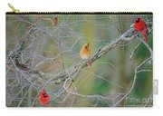 Female Cardinal And Friends Carry-all Pouch