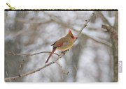 Female Cardinal In Winter Carry-all Pouch