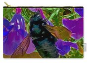 Female Carpenter Bee On Penstemons Carry-all Pouch