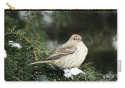 Female House Finch On Snow Carry-all Pouch