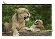 Momma Lion Over Cubs Attitude Carry-all Pouch