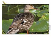 Female Mallard Among Lily Pads Carry-all Pouch