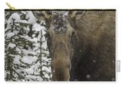Female Moose In A Winter Wonderland Carry-all Pouch