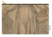 Female Saint (saint Clare Of Assisi Or Saint Catherine Of Siena?) Carry-all Pouch