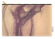 Female Standing Nude Carry-all Pouch