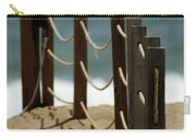 Fence Along The Beach Carry-all Pouch