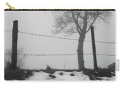 Fence And Fog Carry-all Pouch