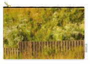 Fence And Hillside Of Wildflowers On Suomenlinna Island In Finland Carry-all Pouch