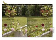 Fence Full Of Roses - Cross Your Eyes And Focus On The Middle Image Carry-all Pouch