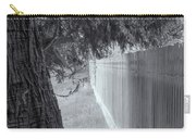Fence In Black And White Carry-all Pouch by Tom Singleton