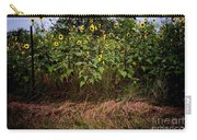 Fence Line Sunflowers Carry-all Pouch
