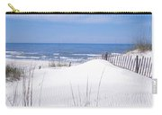 Fence On The Beach, Gulf Of Mexico, St Carry-all Pouch