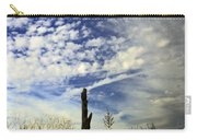 Fence Post And New Mexico Sky Carry-all Pouch