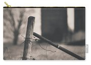 Fence Post In Black And White Carry-all Pouch