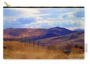 Fence Views Wyoming Color Carry-all Pouch