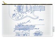 Fender Guitar Patent Drawing Carry-all Pouch