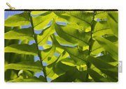 Fern Fronds Against Blue Sky Carry-all Pouch
