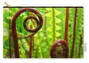 Fern Fronds Fine Art Photography Forest Ferns Green Baslee Troutman Carry-all Pouch