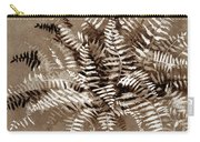 Fern In Sepia Carry-all Pouch
