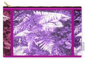 Ferns Strip 5 Blue Purple Carry-all Pouch