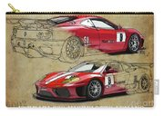 Ferrari 360 Michelotto Le Mans Race Car. Two Drawings One Print Carry-all Pouch